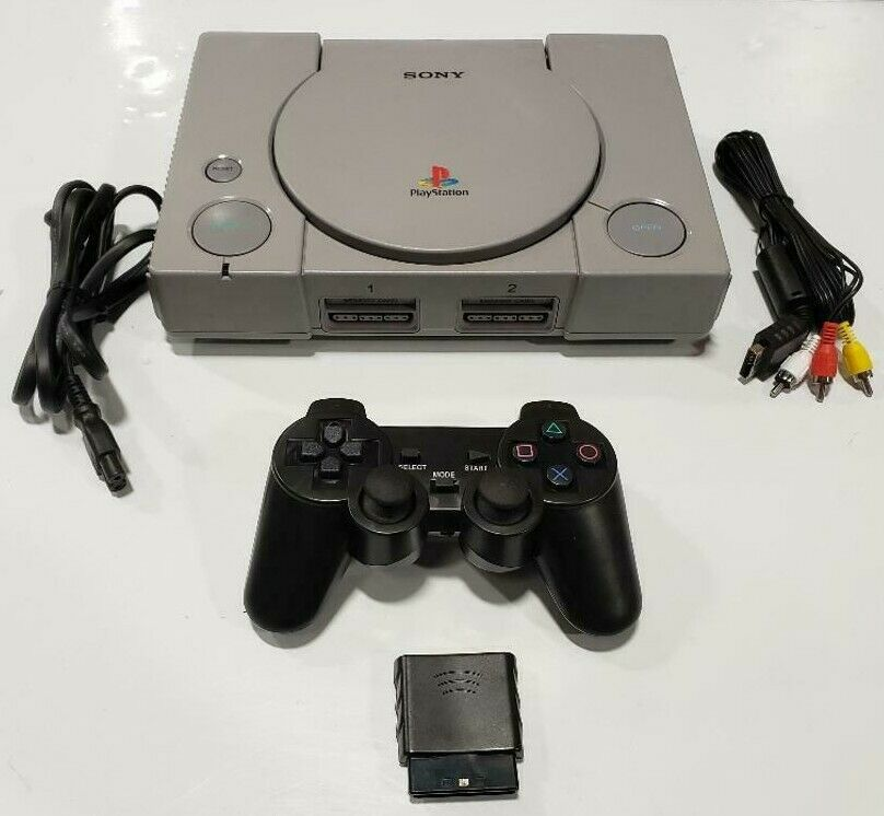 Sony PlayStation 1 SCPH-9001 Console Game System PS1 Wireless Controller Bundle