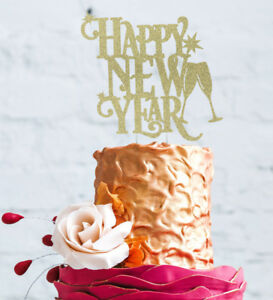 image is loading happy new years party cake topper glitter gold