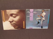 PHILIP BAILEY 2 LP RECORD ALBUMS LOT COLLECTION Vintage R&B CONTINUATION / WALL
