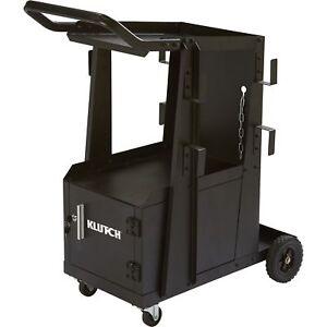 Image Is Loading Klutch 2 Tier Welding Cart W Locking Cabinet