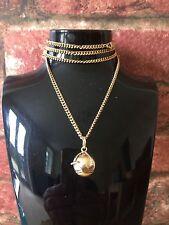 Vintage 9ct Yellow Gold Masonic Fob Pyramid Ball Orb & Cross Pendant Chain & Box