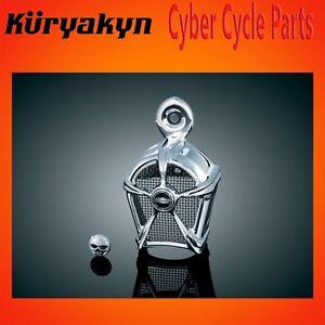 Kuryakyn Mach 2 Horn Cover Chrome with Black Mesh 7296