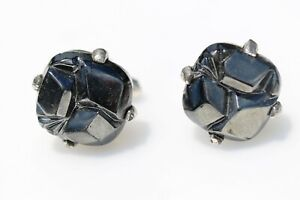 MEN-039-s-vintage-cufflinks-black-shiny-signature-Sarah-Coventry