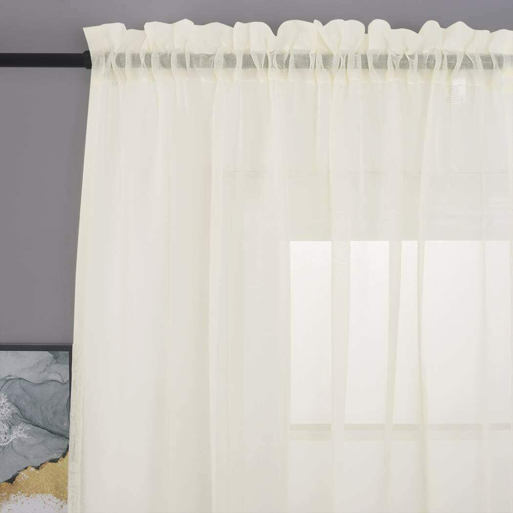 Sheer Rod Pocket Voile Curtains D