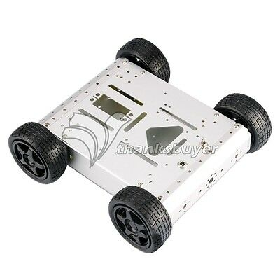 4WD 1:48 Robot Smart Car Chassis Kits Metal Car Platform For Arduino ROBOTICS