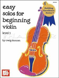 Efficace Facile Solos For Beginning Violon Niveau 1 Sheet Music Book MÊme Jour ExpÉdition-afficher Le Titre D'origine