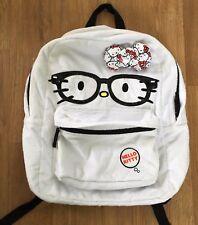 dfdd236f8e item 2 Loungefly Hello Kitty Glasses Face White Fur Full Size Backpack Bag  Bow Sanrio -Loungefly Hello Kitty Glasses Face White Fur Full Size Backpack  Bag ...