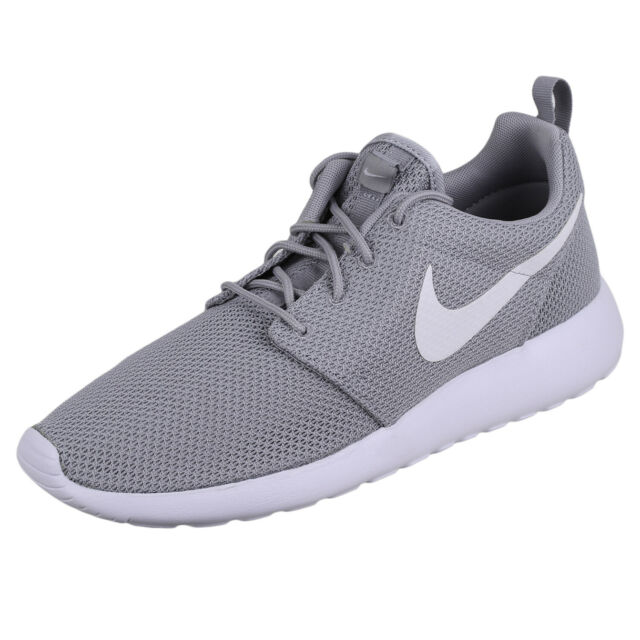 the latest eb4d3 71081 Men Nike Roshe One Wolf Grey White Running Shoes Authentic 511881-023 8.5
