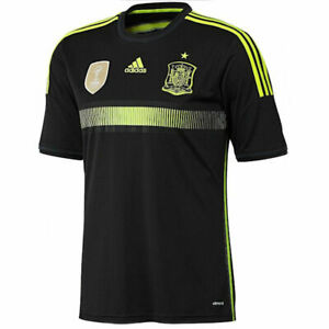 Adidas-Men-039-s-Spain-Away-Jersey-FIFA-World-Cup-2010-in-Black-M