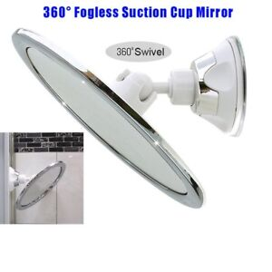 Fashion Makeup Mirror With Holder Suction Cup 360 Rotation Shower Shave Mirrors