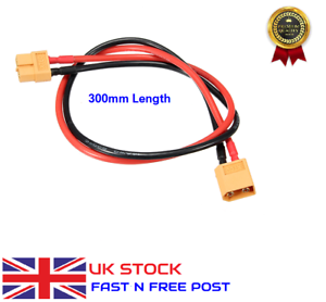 30cm XT60 XT-60 Male to Female Plug Extension Cable Lead Silicone Wire 14AWG