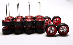 PROMO-Hot-Wheels-4-Spoke-Chrome-Redline-Quality-Rubber-Tire-5-sets