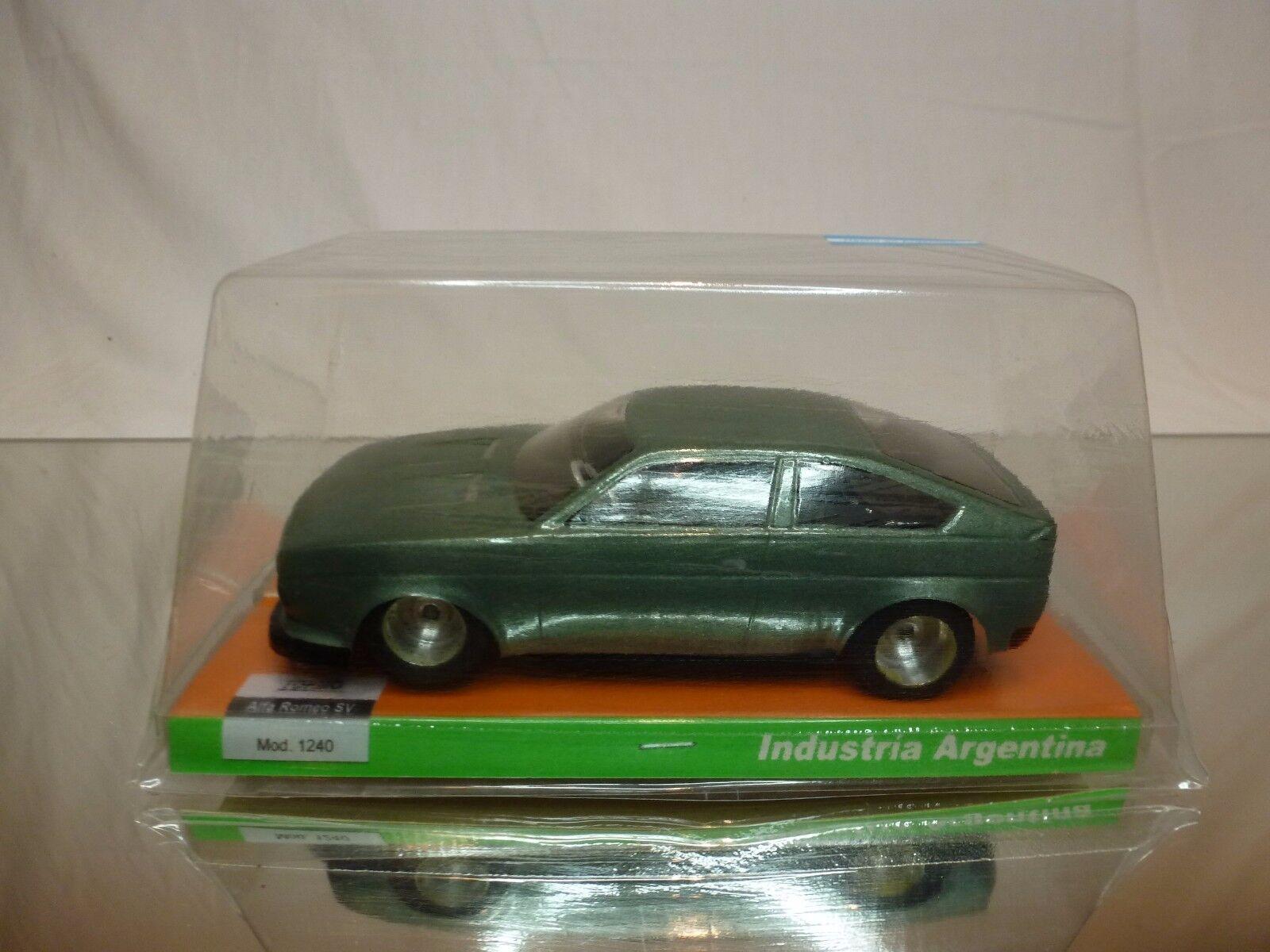 TORMA ARGENTINA SLOT CAR ALFA ROMEO SV  ALFASUD SPRINT - L14.0cm - VERY RARE
