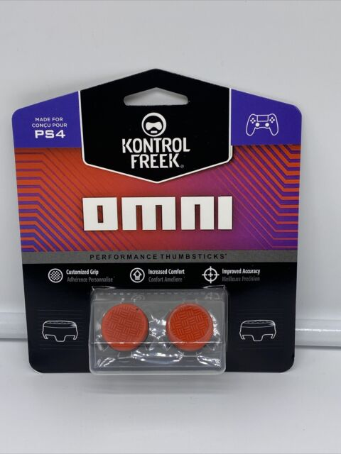 Kontrol Freek PS4 & PS5 Controller Thumb Performance Grip Omni Red FPS 2pc