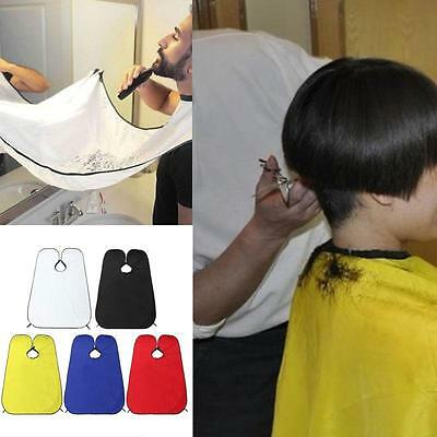 NEW Beard Shave Apron Cape Bib Facial Hair Whisker Trimming Grooming Catcher