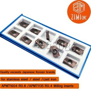 APMT1604PDER K 90° carbide inserts Milling Insert for 400R Face End Mill cutter