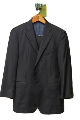 Hickey Freeman Navy Suit 40S - Loro Piana Fabric