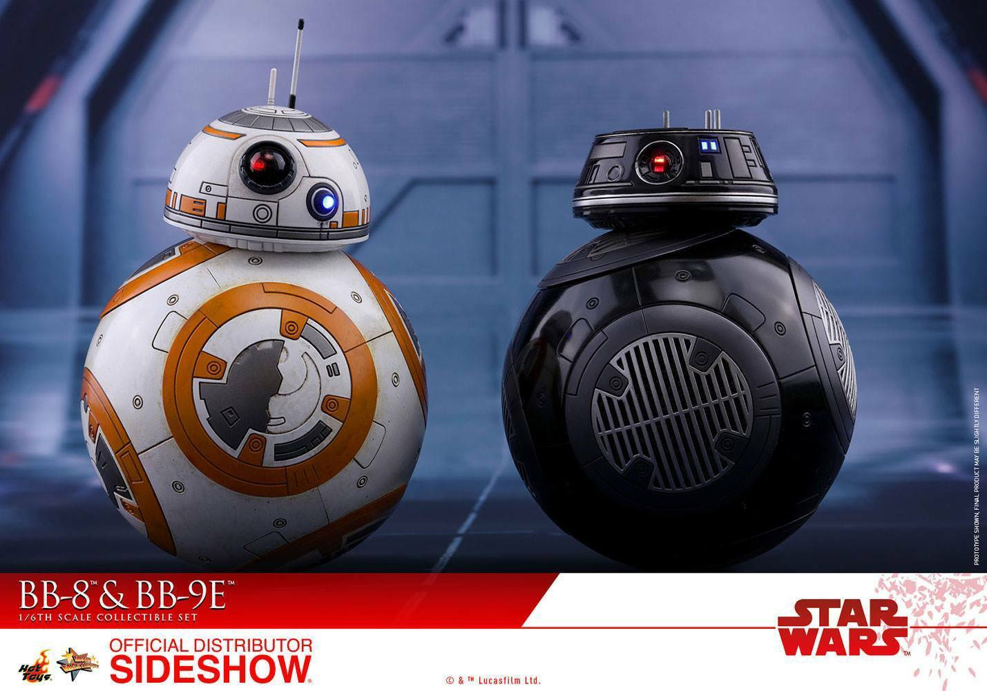 Hot Toys 1 6 Scale Star Wars  The Last Jedi-BB-8 & BB9-E Deluxe Set HT-903190