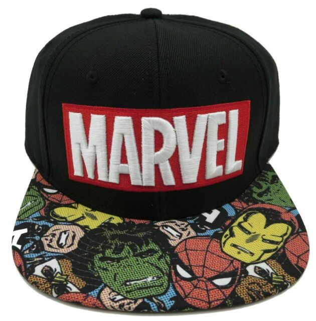 cc027cb2 Marvel Avengers Black Snapback Hat Baseball Cap