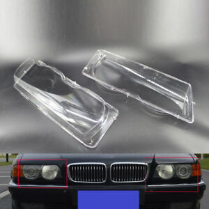 Car-Headlight-Lens-Covers-For-BMW-7-Series-E38-Facelift-99-01-Durable