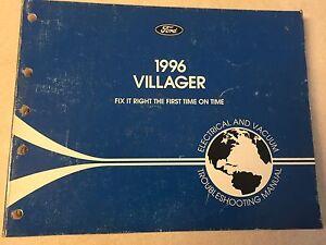 1996 Ford Mercury Villager Wiring Diagram Evtm Shop Repair Manual 96 Truck Ebay