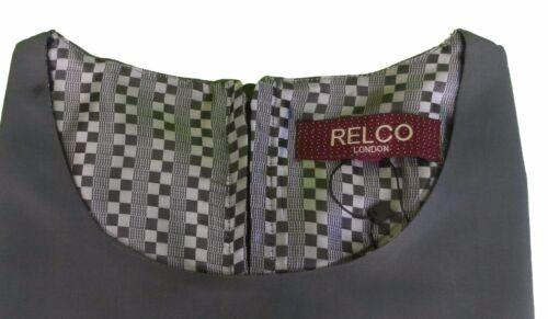 korte dames groengoud Tonic Relco tuniekjurk retro met mouwen mod KlFJc1