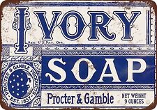 """7"""" x 10"""" Metal Sign - 1921 Ivory Soap - Vintage Look Reproduction"""