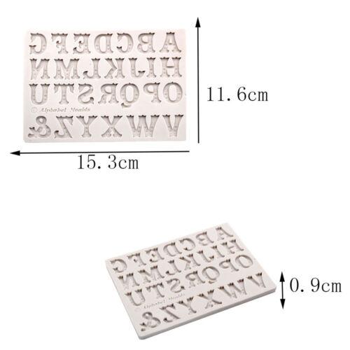 English Alphabets Letter Silicone Fondant Mold Chocolate Mould Cake Decor ToolYR