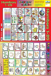 Numbers 1 to 20 & Know your Alphabet 2 in 1 Poster / educational / learning