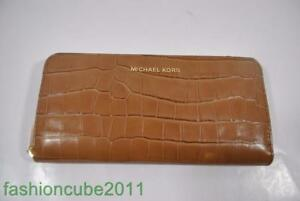 6dbe910d8db4 New With Tag MICHAEL KORS MERCER Embossed-Leather CONTINENTAL WALLET ...