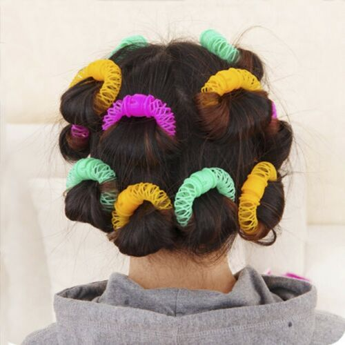 8Pcs Magic Hairdress Hair Styling Roller Curler Spiral Curls DIY Beste Tool