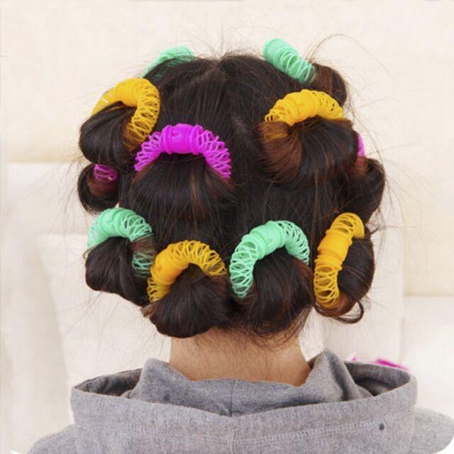 8pcs Cute Hairdress Magic Bendy Hair Styling Roller Curler Spiral