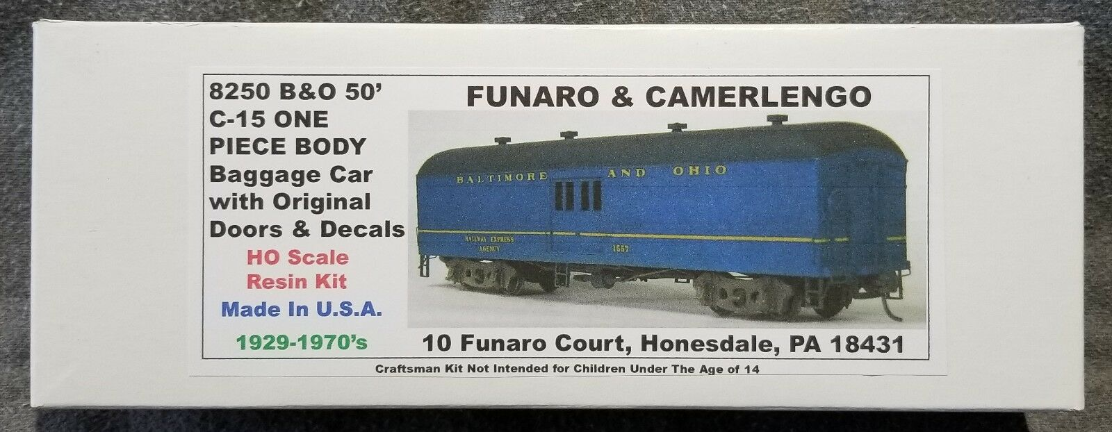 Funaro F&C 8250 BALTIMORE OHIO 50' B&O C-15 Borsagage Passenger Original Door 1-PC