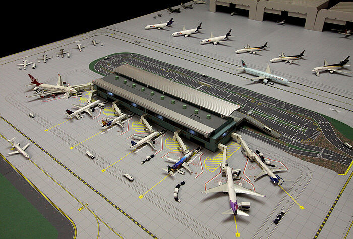 Gemini Jets Airport Air-Side pays-Side Terminal Complex 1 400 Scale GJARPTB