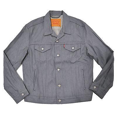 Levis Jean Jacket Mens Shrink To Fit Trucker Denim Button Up Pocket Strauss New