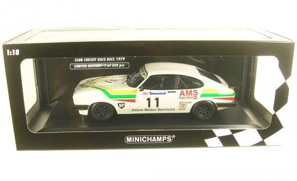Ford Capri 3.0 No. 11 winner Platastone club CIRCUIT Race bscc 1979 (j. Allam)