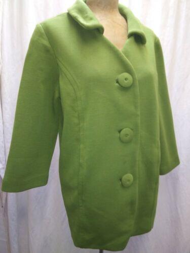 Vintage 1960's Avocado Green Knit Mod Coat by Dalt