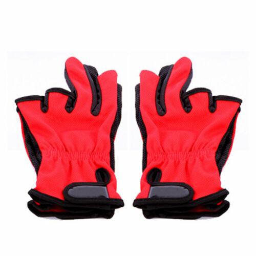 4EF3 Nylon Fishing Gloves Fishing Tackle Non Slip Catcher Fish Control