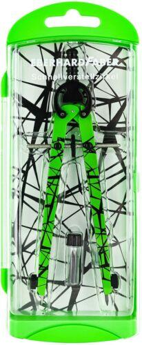 Eberhard Faber 571703 Schnellverstellzirkel im Etui neon grün Schul Zirkel