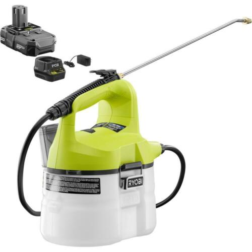 18-Volt Lithium-Ion Cordless Battery Charger RYOBI Chemical Sprayer 1-Gal
