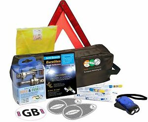 French Euro Driving Kit Alcohol Breathalyser Light Deflectors Travel
