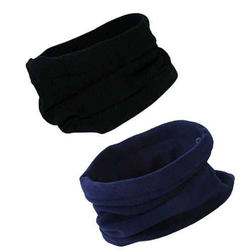2x Neckwarmer Thermal Fleece Snood Scraf Motorbike Cycle Riding Mens Ladies