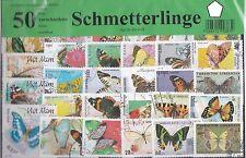 50 Briefmarken Schmetterlinge,Lepidoptera,Butterfly,Papillon,Schmetterling Falte