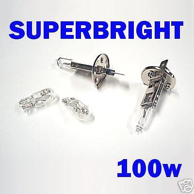 Super Bright H1 100w Bulbs For Toyota Avensis//MR2 //RAV4 04