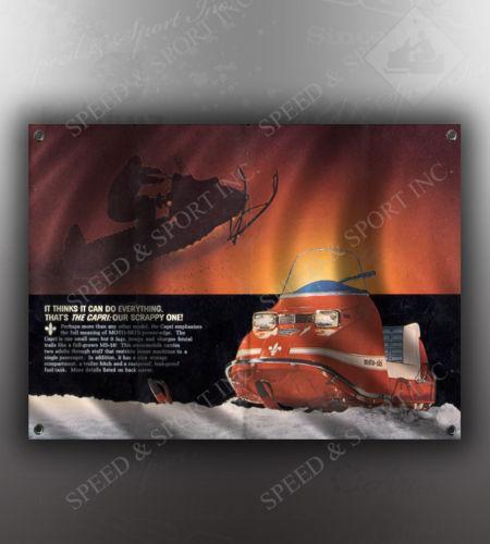 VINTAGE MOTO SKI CAPRI SNOWMOBILE BANNER