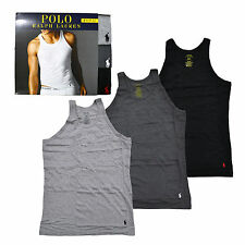 Polo Ralph Lauren Undershirts Mens Tanks 3 Pack Slim Fit Tops Pony Logo New Nwt