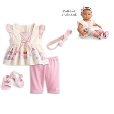 """American Girl BITTY BABY  PASTEL CAROUSEL OUTFIT for 15"""" Doll Dress TWIN New Box"""