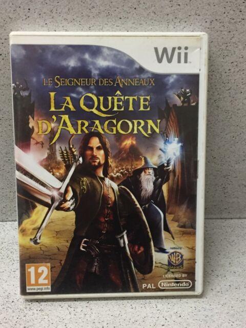 JEU Wii LE SEIGNEUR DES ANNEAUX LA QUETE D'ARAGON AVEC NOTICE PAR NINTENDO