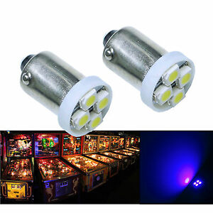 PA-30x-1893-44-47-1847-BA9S-4-SMD-LED-Pinball-Machine-Light-Bulb-Purple-6-3V