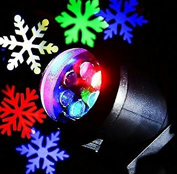 Led Outdoor Christmas Waterproof Dynamic Snowflake Projection LED garden Lamp